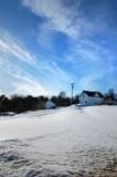 White Building Snow-scape