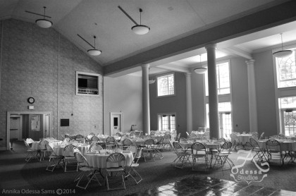 The Venue in black and white