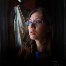 Annika selfie at Gramas